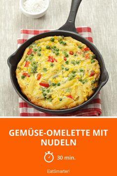 Gemüse-Omelette mit Nudeln