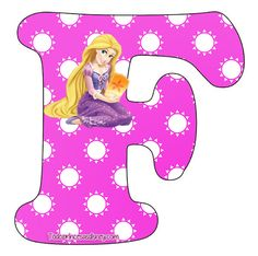 Rapunzel Birthday Party, Birthday Parties, Alphabet, Tangled Rapunzel, Kid Movies, Princesas Disney, Art Decor, Minnie Mouse, Disney Characters