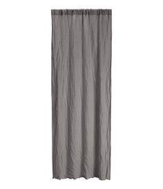 Set van 2 linnen gordijnen | Donkergrijs | Home | H&M NL