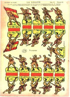 RECORTABLES ANTIGUOS la legion paper minis 3d Paper, Paper Toys, Paper Crafts, Confederate Flag, Oragami, Paper Folding, Toy Soldiers, Paper Models, Cthulhu
