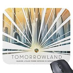Imagine a place where nothing is impossible when gazing at the fine graphic design of this uplifting customized mousepad inspired by Disney's new movie, <i>Tomorrowland</i>.