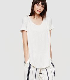 Image of Lou & Grey Signaturesoft Shirttail Tee