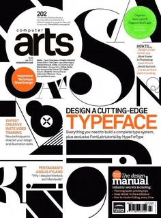 Computer Arts magazine cover created using F37 Bella ☞ https://www.hypefortype.com/f37-bella.html #FontsInuse