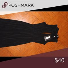 BRAND NEW BLACK GOWN WITH SLIT CHEST Grown and sexy Dresses Maxi