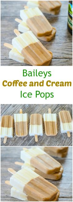 Baileys Coffee and Cream Ice Pops
