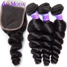 Cheap weave closure, Buy Quality weave silk directly from China weave pattern Suppliers: Brazilian Loose Wave Lace Closure with Bundles 4pcs Rosa Hair Products Brazilian Virgin Hair with Closure Brazilian V