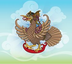 'Jatayu' or Eagle on the story of the Ramayana Art Print by Jatmika jati - X-Small Shadow Puppets, Mythical Creatures, Vector Graphics, Illustration Art, Illustrations, Religion, Digital Art, Eagle, Character Design