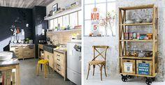 Esprit brocante : 21 meubles et accessoires pour une cuisine chinée - CôtéMaison.fr