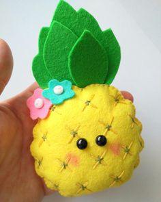 Felt pineapple ornament pattern Fruit toy DIY Nursery decor