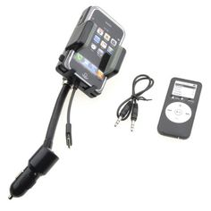 SANOXY FM Transmitter /Car Charger/ Holder for iPhone 3GS 3G iPod Touch- 4GB, 8GB, 16GB, 32GB, 64GB,