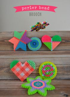 Make It: Perler Bead Brooch - Tutorial (Perfect kids craft for a rainy day!) #kidscraft