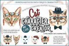 Ознакомьтесь с моим проектом @Behance: «Cat Character Creator Freebie» https://www.behance.net/gallery/54491195/Cat-Character-Creator-Freebie
