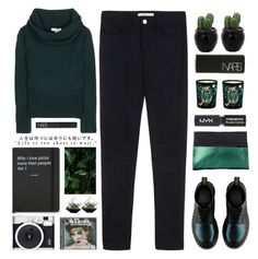 """""""Untitled #1932"""" by tacoxcat ❤ liked on Polyvore featuring Acne Studios, Burberry, Dr. Martens, Dries Van Noten, NARS Cosmetics, Topshop and Diptyque"""