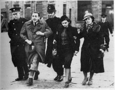 Germany. Jews being arrested in the throws of Kristallnacht, the Night of Broken Glass November 10th, 1938