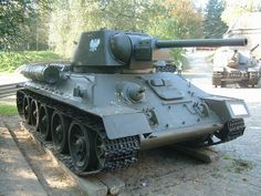 USSR T-34 (introduced 1940) -- 76.2 mm cannon (85 mm cannon w/model redesign in 1944) -- 2x 7.62 mm machine guns -- 29.2 tons