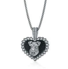 Schnauzer Puppy Love Heart Pendant