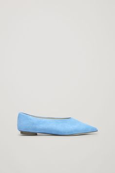 COS image 5 of Pointed slip-on shoes in Sky Blue