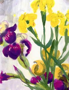 Emil Nolde - Yellow and Blue Iris