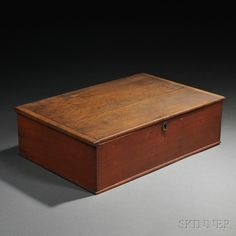 Shaker Red-Painted Pine Writing Box | Sale Number 2731M, Lot Number 4 | Skinner Auctioneers Sold $3,198