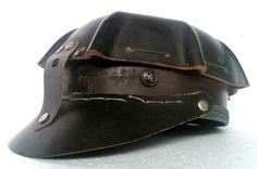 Romanian vintage coal miners comfo hat helmet mining rare dark brown fiberglass