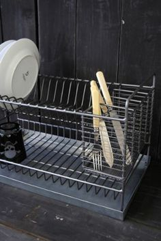 Industrial Style Metal Dish Drainer, $89