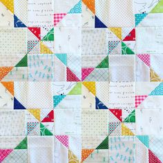 Simple Quilting Blocks Colour 15 New Ideas Cute Quilts, Scrappy Quilts, Easy Quilts, Mini Quilts, Strip Quilts, Patch Quilt, Quilt Blocks, Quilting Projects, Quilting Designs