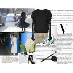 NYFW street chic by cristina-e on Polyvore featuring Maison Margiela, Givenchy, Le Specs, Chanel, Stop Staring!, Casadei, StreetStyle, StreetChic and NYFW2015 Nyfw Street, Street Chic, Street Style, Stop Staring, Le Specs, Bleach, Brows, Givenchy, Cocktail