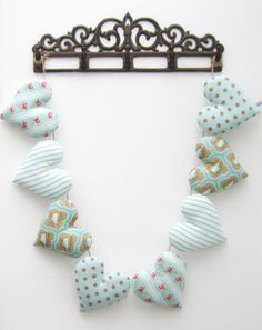Heart Garland made from TILDA fabric - £20  Available at www.facebook.com/mellasmakings