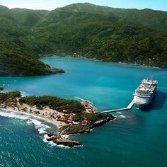 Labadee Haiti...lovely via: Royal Caribbean...we should have done the zip line...B&K!