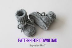 Knit Baby Booties PATTERN for downloading in PDF file. For more info please click on the link below: