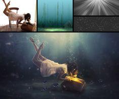 Underwater Effect Manipulation - Photoshop Tutorial Effects Photoshop, Cool Photoshop, Photoshop Tutorial, Learn Photoshop, Creative Photoshop, Photoshop Photography, Creative Photography, Photo Manipulation Tutorial, Surrealism Photography
