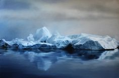 """Pastel Drawings of Greenland's Changing Arctic Landscapes - """"Chasing the Light"""" by Zaria Forman (My Modern Metropolis)."""