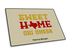 Chi Omega Sweet Home Welcome Rug from GreekGear.com