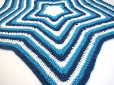 Star Baby Blanket, Perfect Baby Shower Gift! Personalize with Your Custom Colors! Hand Crocheted Using Cotton or Acrylic Yarn Made to Order - pinned by pin4etsy.com