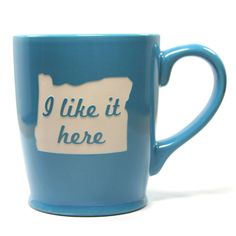 Oregon mug by Bread and Badger - I love this mug! Of course mine would be a California mug!