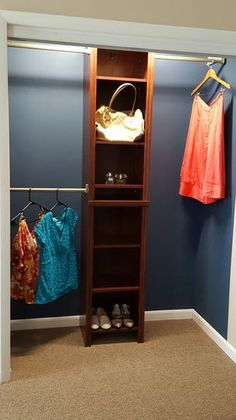 ClosetMaid Impressions 16 In. W. Chocolate Narrow Closet Kit