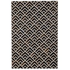 Tiled Cowhide Rug – Black Rooster Decor