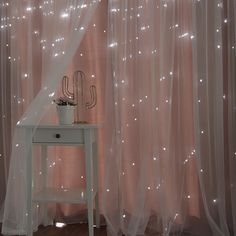 Harriet Bee Efird Tulle Overlay Star Cut Out Blackout Thermal Grommet Curtain Panel Cute Room Decor, Teen Room Decor, Room Ideas Bedroom, Bedroom Decor, Cozy Bedroom, Diy Room Ideas, Magical Bedroom, Star Bedroom, Gold Room Decor