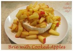 Brie with Cooked Apples