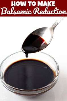 How to Make Balsamic Reduction. With only one ingredient needed, and a few minutes of time, you will have an amazing Balsamic Reduction that is perfect for many tasty recipes. Balsamic Reduction Recipe, Balsamic Glaze Recipes, Balsamic Vinegarette, Basalmic Glaze, Sauce Recipes, Cooking Recipes, Tuna Fish Recipes, Yummy Food, Vinaigrette