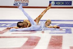 Best Olympic Ice Skating Costumes: Chazz Michael Michaels and Jimmy MacElroy, Blades of Glory Just kidding. We had to do it!