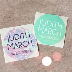 *NEW* Judith March stickers!! #judithmarch #fun #love #stickers #promo #prints #mint #picfx