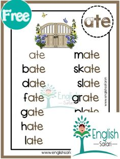 Cvce Words, Phonics Words, Phonics Worksheets, English Stories For Kids, Learn English Words, Reading Intervention Activities, Magic E Words, Phonological Awareness Activities, Phonics Blends