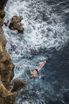 Gary Hunt, Great Britain. Competes in the Red Bull Cliff Diving in Portugal.