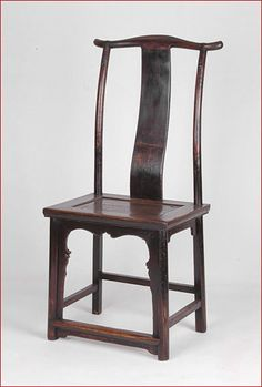 Pair of Side Chairs 清中早榆木灯挂椅,产於山西