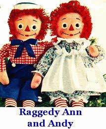 Raggedy Ann and Andy...love these rag dolls!