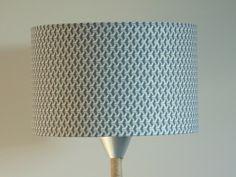Abat-Jour cylindre motif cubes gris et argentés - géométrique - rond 28cm