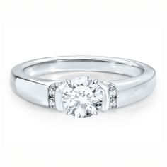 Renditions™ by HAROUT R™ Diamond Semi-Mount Engagement Ring in 14K Gold for the more conservative consumer