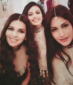 3 beauties in one frame Cute Celebrities, Bollywood Celebrities, Celebs, Indian Show, Surbhi Chandna, Green Lehenga, Ballroom Costumes, Cute Love Couple, Girls Selfies