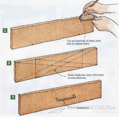 Plans of Woodworking Diy Projects - Drawer pull layout Announcing: The World's Largest Collection of 16.000 Woodworking Plans! tedswoodworking-t... Get A Lifetime Of Project Ideas & Inspiration! #WoodworkPlans